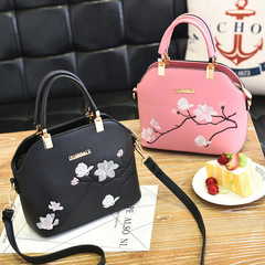 New ladies bag handbag European and American pu leather shell bag for ladies cross shoulder black thy only