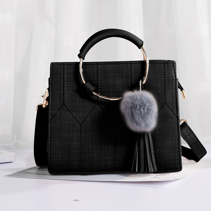 Leather Women's  Handbags Ladies Shopping Bag Shoulder Bags one size cherry 9(in)*4(in)*6(in) black product size: length 23cm, width 11cm, height 17cm