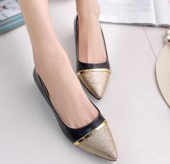 Women Flats Fashion Pointed Toe Shoes Woman Loafers Summer Fashion Sweet Flat Casual Shoes Black black 38