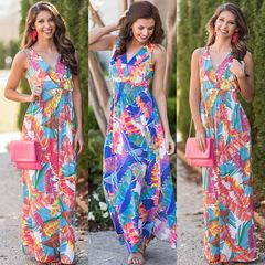 dresses for women women dresses chiffon Evening dresses  long  blockbusterladies dresses sexy V s bule