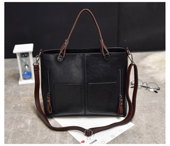 bags women s handbags for ladiesbags and fashion handbags for women Black Retro Single Shoulder black product size: length 31cm, width 26cm, height 14cm