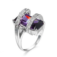 fashion rings for menrings setrings menrings for womenrings for ladies color diamond ring purple 6