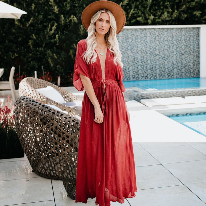 women dresses blue dresses for women dresses summer ladies dresses sexy V Evening dresses Lace s red