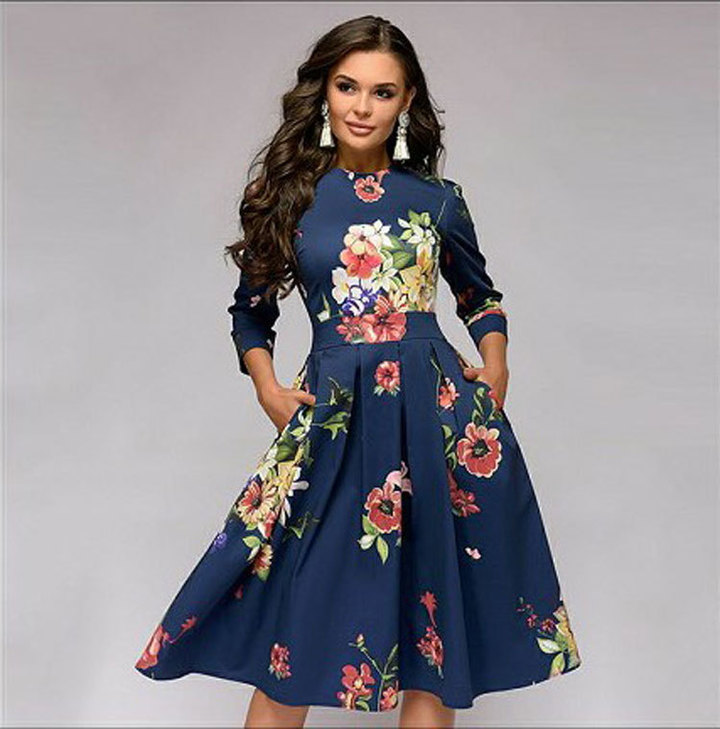 dresses for women women dresses blue ladies dresses sexy V ladies dresses sleeve dress party for s bule