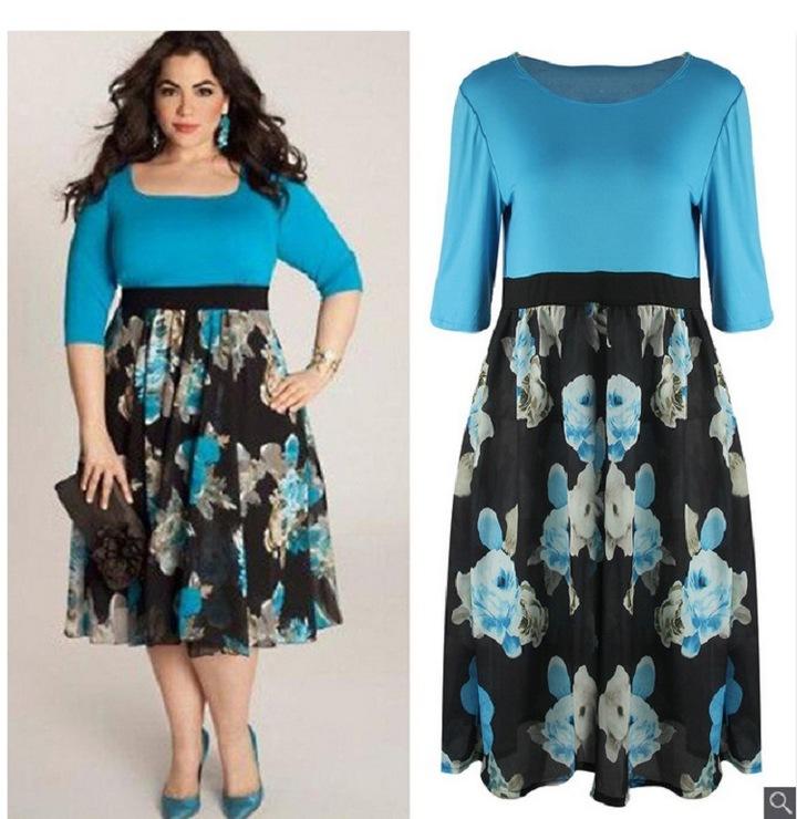 dresses for women ladies dresses fashion women dresses blue women's large size dress female xxxxl bule