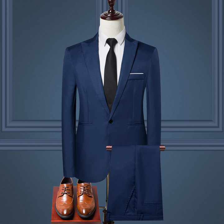 Business casual men's suit business casual suit suit men's trousers long-sleeved suit suit 1 m