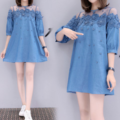 dresses for women ladies women dresses blue ladies dresses fashion size women's embroidered bead s bule