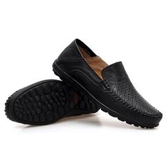 shoes mens men shoes loafers men shoes casual men shoes leather shoes men brown  Breathable Peas black 38