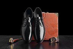 Autumn men's business dress shoes  sneakers men  loafers smooth set toe head tide Lok Fu shoes XL black 38 Sole: rubber