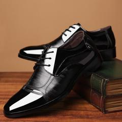 Men shoes formal shoes for men men  men Spring and autumn leather breathing leather shoes zipper black 38 sole: rubber