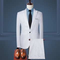Business casual men's suit business casual suit suit men's trousers long-sleeved suit suit 3 l