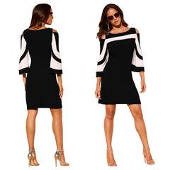 2019 Fashion dress plus size women clothing summer Sexy Black dresses l black