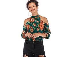 2019 new sexy V-neck camisole woman dress summer chiffon sleeveless shirt women wear green m