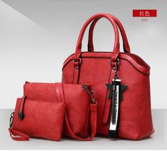 3pcs/Set Women Handbag Stone Pattern PU Leather Shoulder Bag Large Tote Bag For Women 1 3pcs/set