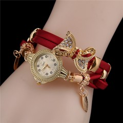 Butterfly Retro Bracelet Watches Women Lovely Wedding Quartz Wrist Watches 1 one size