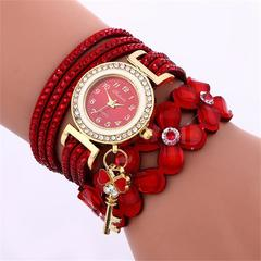 Luxury Gold Crystal Rhinestone Bracelet Watch Women  Flower Quartz Wristwatches 1 one size