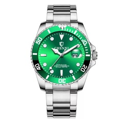 Fashion quartz men and women watch waterproof light luxury style classic noble watch green one size