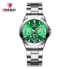 Fashion quartz women watch waterproof light luxury style classic noble watch green one size