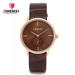 Top quality man quartz leather watch waterproof wristwatch classic noble popular fashion watch brown one size