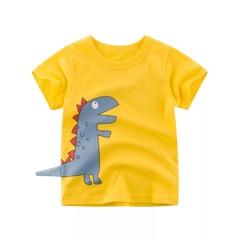 2019 summer children short-sleeved T-shirt children clothing boy Tshirt baby shirt yellow 90cm cotton