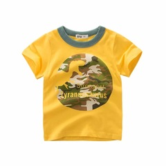 2019 summer children clothing boy short-sleeved T-shirt cotton kids clothing Tshirt baby half-sleeve 1 90cm cotton