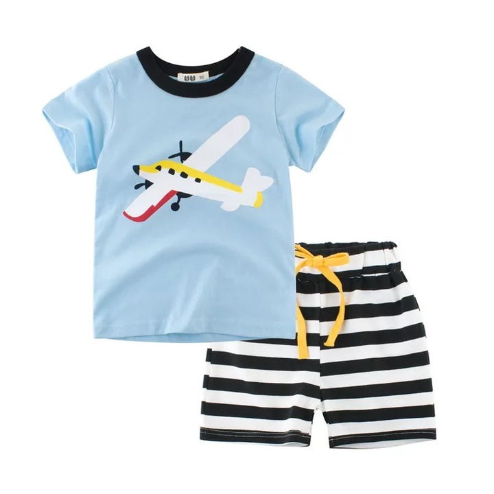 2019 children clothing summer new style suit summer children clothes boy clothing baby two-piece ins 1 90cm cotton