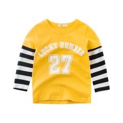 2019 fashion new models boys long-sleeved T-shirt cotton children clothing baby bottoming shirt 1 90cm cotton