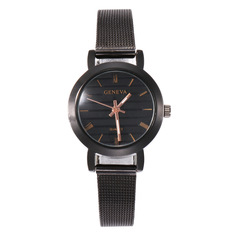New fashion watch simple Roman scale quartz watch woman fashion ladies alloy mesh belt wrist watch 1 one size
