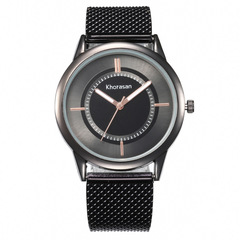 Fashion new style lady watch simple metal mesh belt watch for man and woman 1 one size