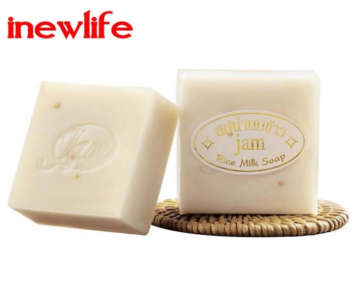 Handmade Soap Thailand Jasmine Rice Handmade Collagen Vitamin Skin Whitening Bathing Rice Milk Soap rice soap 60gx1