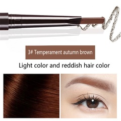 6Colors Eyebrow pencil Natural Long Lasting Paint Tattoo Eye Brow Waterproof Eyebrow Pencil Make up #3 temperament autumn brown