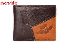 Original leather man wallets Coin Pocket Zipper Real Men's Leather Wallet High Quality Male Purse designA 11.5 cm * 9.5 cm * 2.5 cm