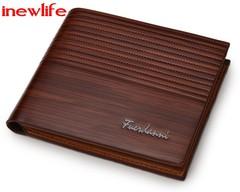 Boyfriend gift real leather wallet Vintage man wallets Leather Luxury Short Male Clutch Wallet brown 12 cm *10 cm * 2 cm