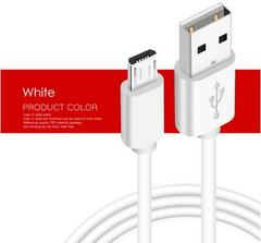 Android phones 8V usb cable Micro USB Cable 2A Fast Charge USB Data Cable for Android phone USB white 1m