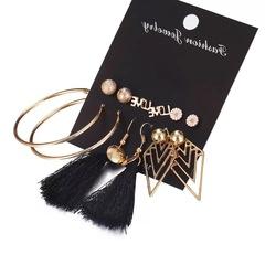 Girl gift earrings set Love flower circle tassel earrings set 6 pairs woman jewellery earrings colorful 6pairs