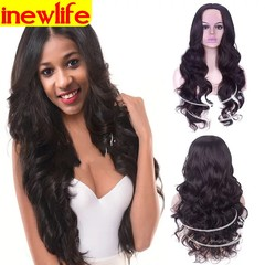 Fluffy long curly woman hair mid-section wig black hair non-mainstream long black hair black 68-75cm
