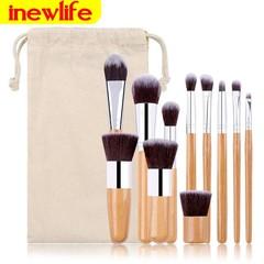 11pcs/Set Makeup Brush Powder/EyeShadow/Foundation/ConcealerBrush Makeup Small Size wood color