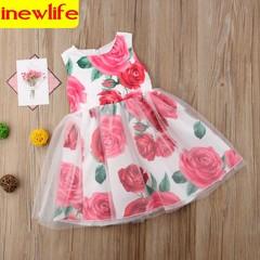 2019 new style princess dress little girls summer dress princess dress beautiful cute popular dress as picture 90cm