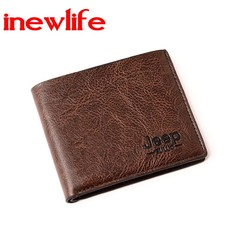 new arrival man wallet short man purse pu leather wallet man gift purse leisure business wallet deep brown one size