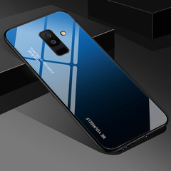 Tempered Glass Case For Samsung Galaxy S8 S9 S10 A7 J6 A8 2018 Note8 Aurora Colorful Cover c1 A60