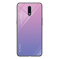 Glass Phone Case For Oppo R19 R15X R17 Pro Find X F11 Pro K1 Gradient Tempered Glass Cover Back Case c1 R17