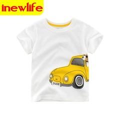 2-9Year Shark Print Baby Boys Girls Short Sleeve T Shirt Children Kids Short Sleeves Clothes Cotton 3 90cm 100% cotton