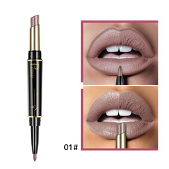 Matte Lipstick Wateproof Double Ended Long Lasting Lipsticks Makeup Nude Dark Red Lips Liner Pencil #1