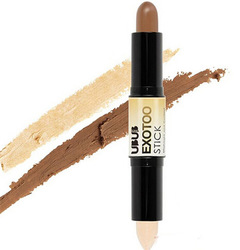 Double-ended Highlighter Contour Stick Makeup Tools Brightener Creamy Bronzer Long Lasting Highlight #WS01 Light