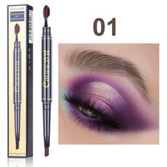 Eyebrow Pencil Double Head with Brush Head Eyebrow Pen Waterproof Long Lasting eyebrow woman Makeup #01