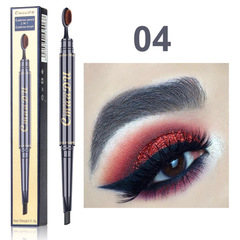 Eyebrow Pencil Double Head with Brush Head Eyebrow Pen Waterproof Long Lasting eyebrow woman Makeup #04
