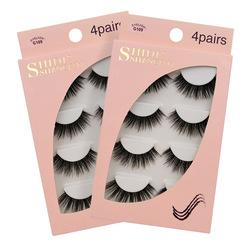 4Pairs natural eyelashes thick makeup real 3d mink lashes soft eyelash extension 3d mink eyelashes eyelashes G109 as pictures