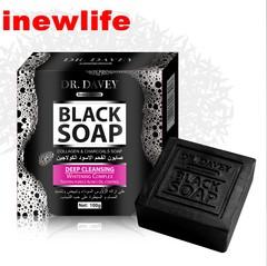 Deep cleansing facial soap essential oil handmade soap remove blackhead against acne black soap black soap