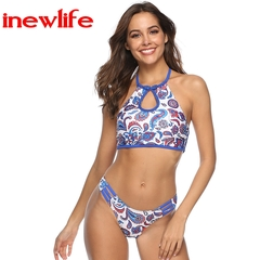 2019 new style solid color fashion swimsuits new belly pocket split high-end bikini woman swimwear as picture s