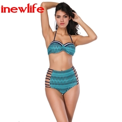 2019 new Y-shaped hanging neck halter swimsuits two-piece suit sexy style Swimwear bikini new design as picture s